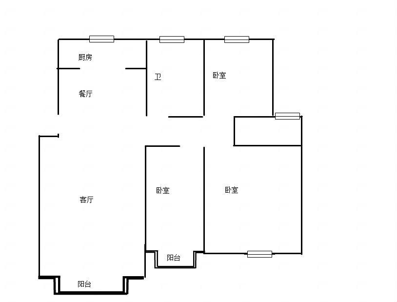 壹代城6层117平米毛坯3房2厅不容错过!_1