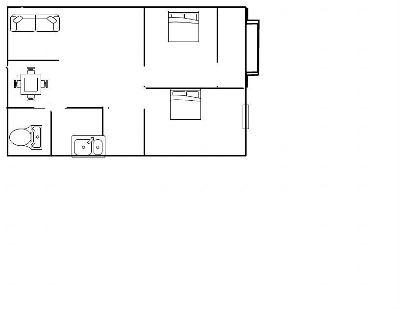 前锋电力村两室一厅简装,家具家电齐全,_7