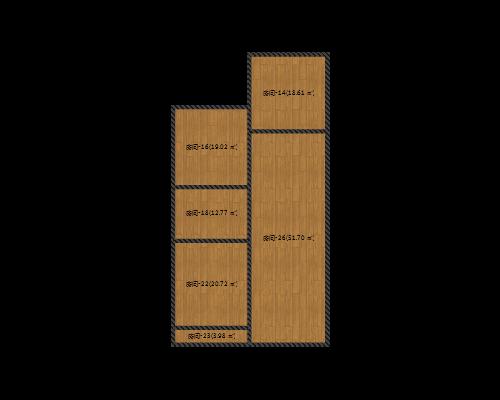 中央美域 142.73平米 四室两厅 毛坯
