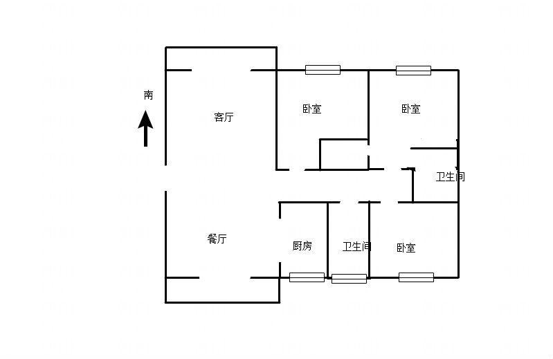 香榭华都东区毛坯房127平米南北通透低价出售