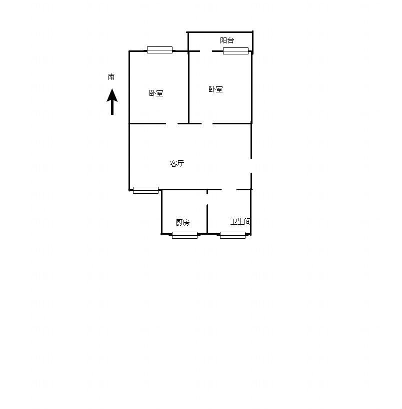 二汽新村多层2楼70平米低价急售_2