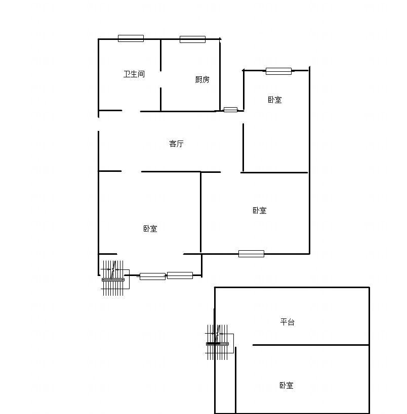 华声苑四室一厅99.8平米5跃六精装出售_10