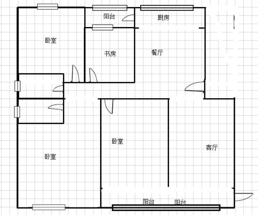 广弘城4室2厅南北通透好房出售_12