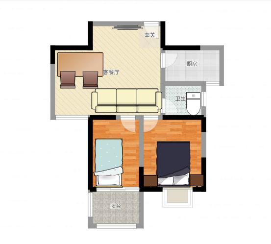 舜耕花都2室2厅84平毛坯房