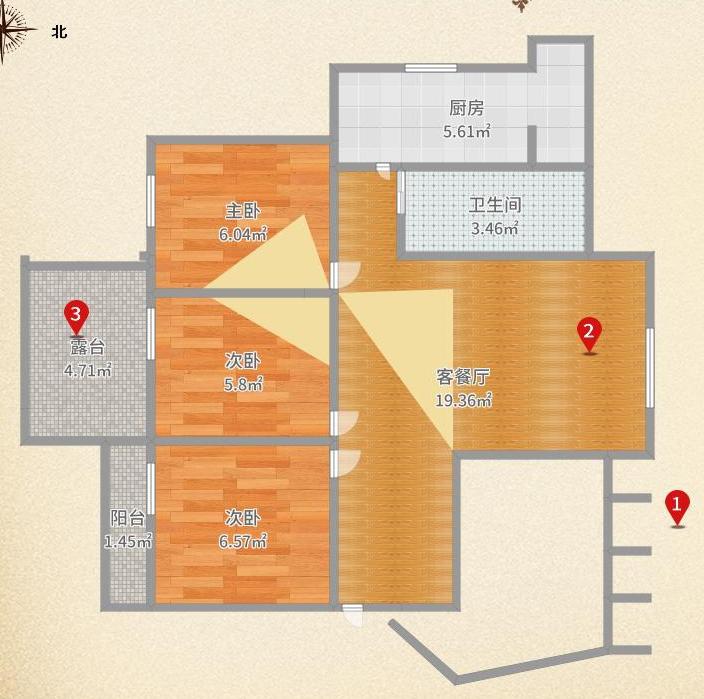 多层 6跃 7 金港家园精装大三房工作调动急售!
