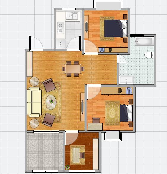 金地月伴湾多层三楼三室二厅精装修急售