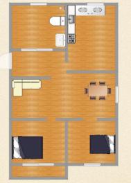 朝阳菜市场2室2厅精装修78.9平洞二小学区房