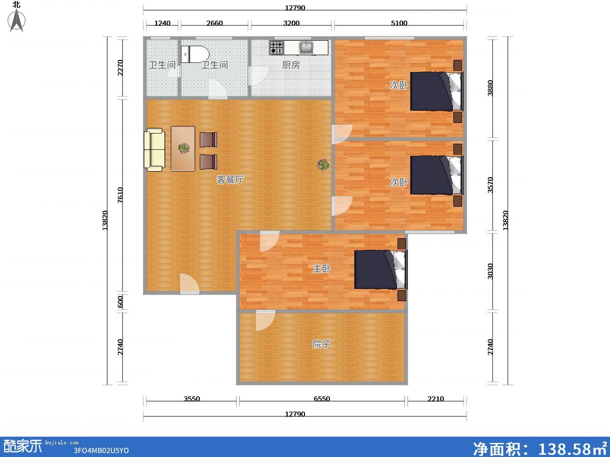 舜耕园一期多层一楼71.82平米中装修老证