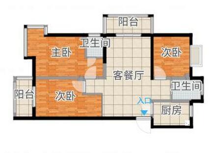 奥林花园3室2厅跃层毛坯吉房出售