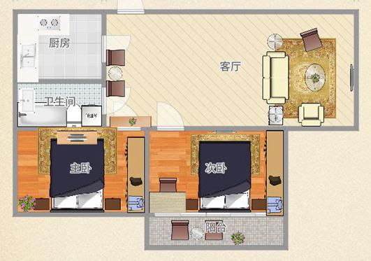 舜耕花都83.76平米2室豪装婚房出售