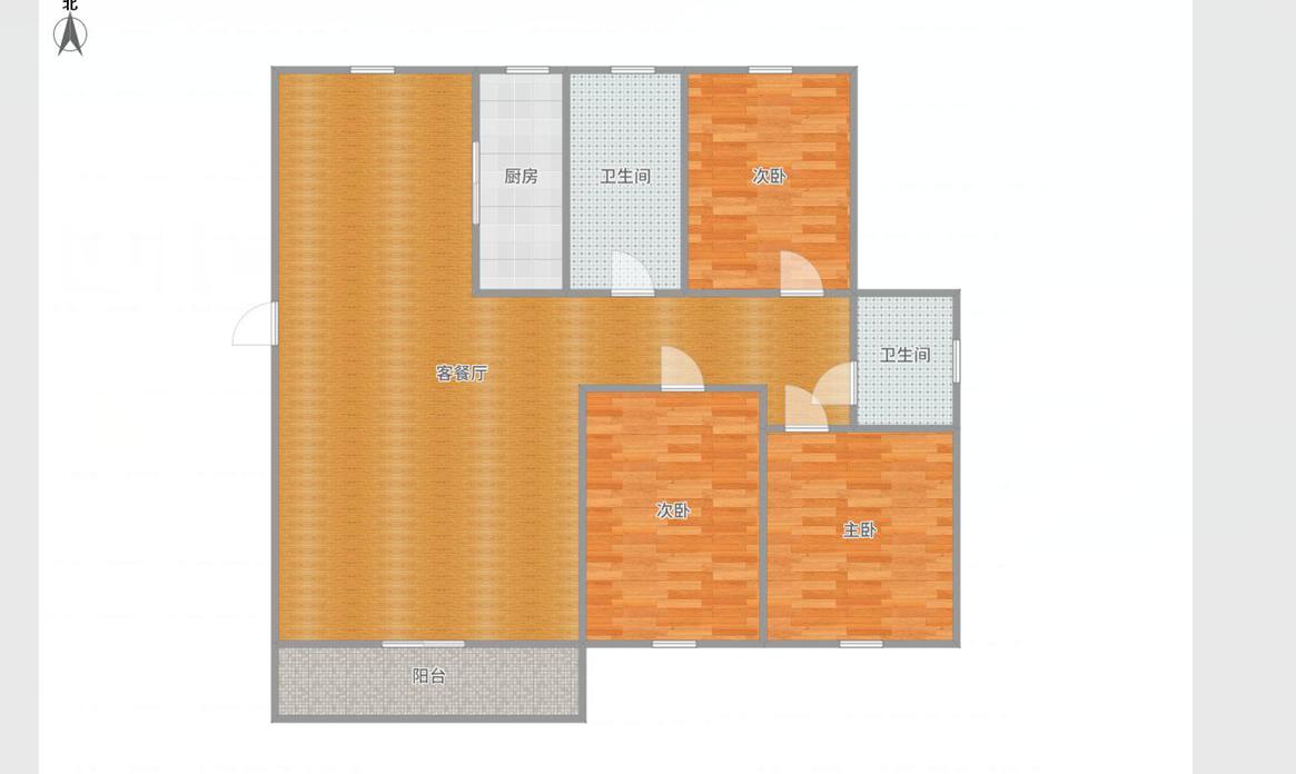 半山家园2楼3房126.73平米毛坯出售