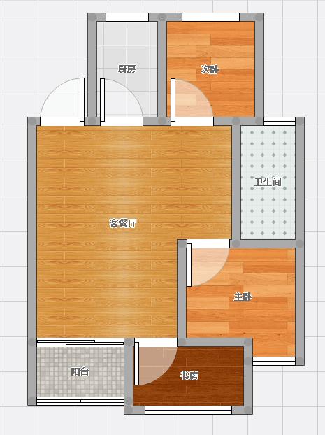 金地月半湾87.93平米4楼房型出售