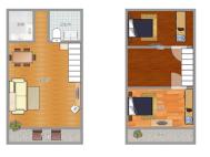 金地国际城A区47.8平米精装复式公寓