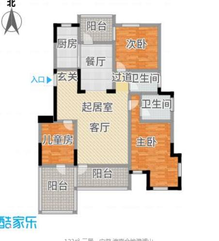 金地滟澜山129平米3室精装学区房