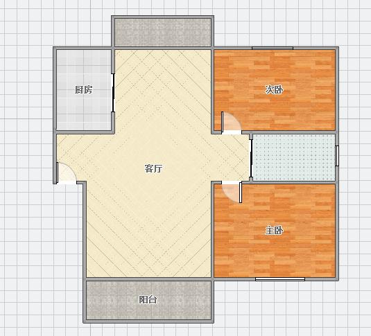 惠利瀚林华府95平米2室简装出售