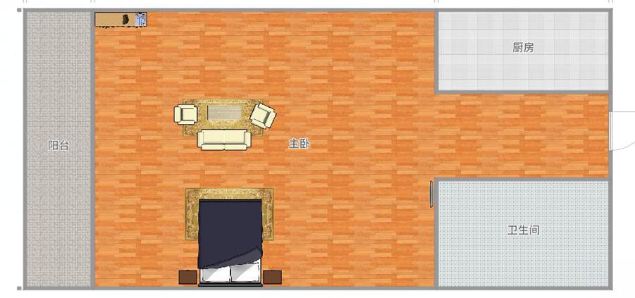 汇金广场26楼1室1厅小公寓毛坯急售