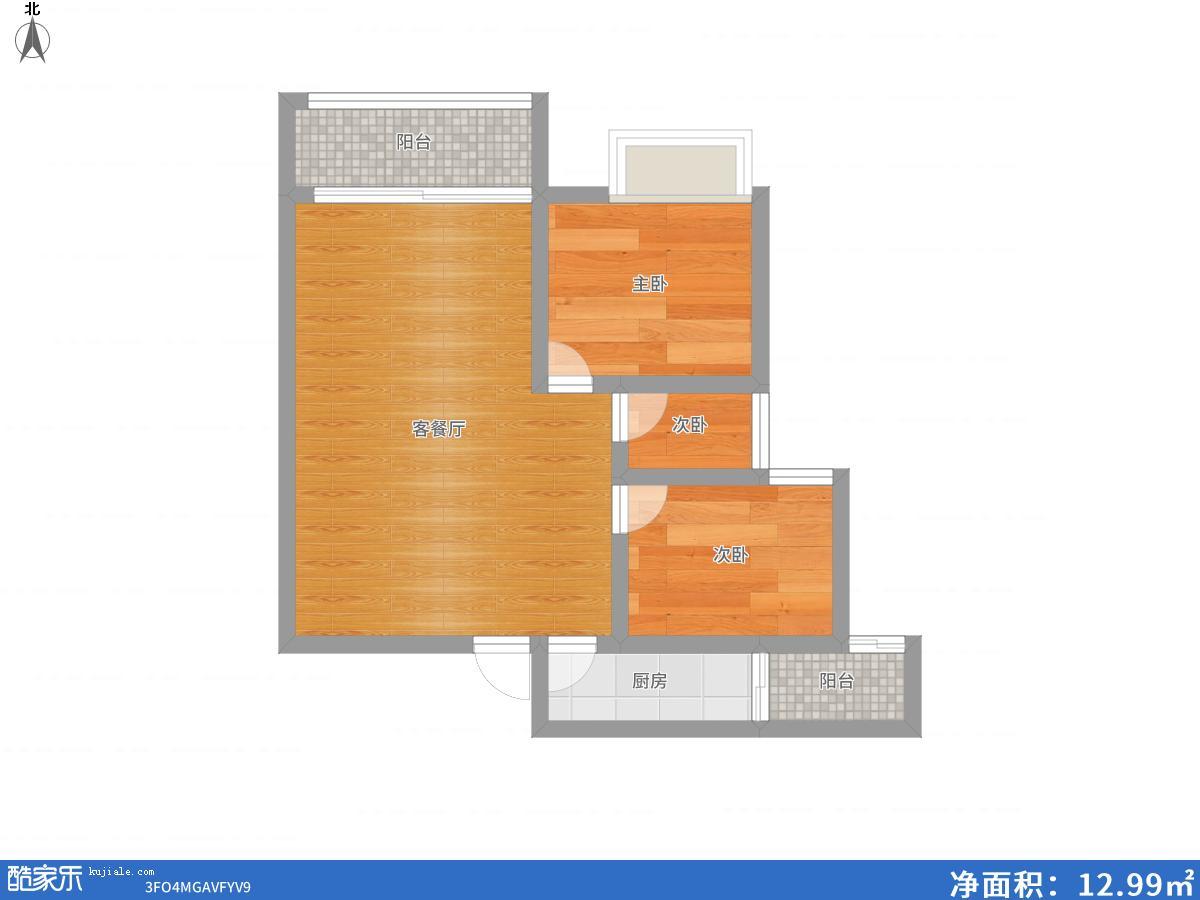 香颂小镇毛坯84.79平米56万出售
