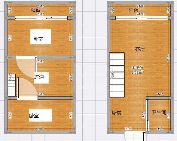 金地国际城复式公寓共100平  精装修  3室2厅双阳台  送家具家电  满五唯一_16