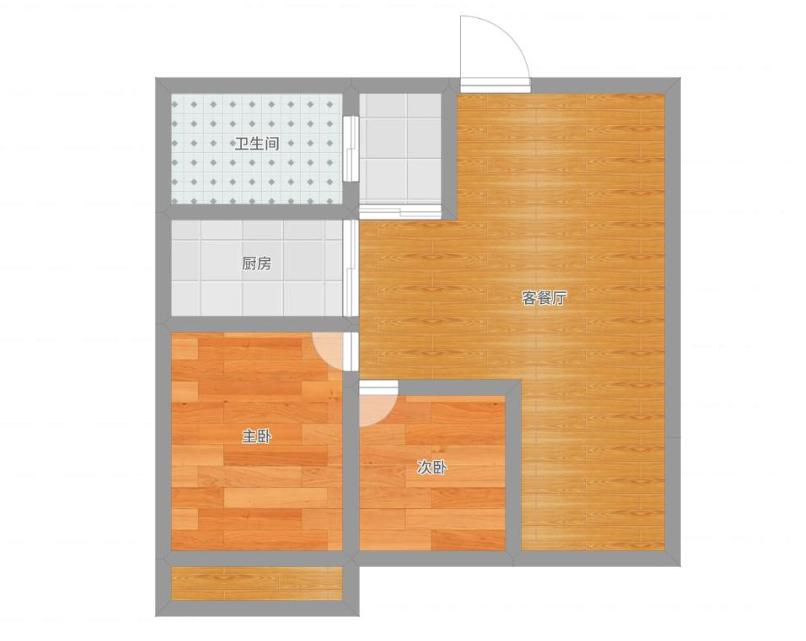 山南印象90.6平 2室2厅 简单装修