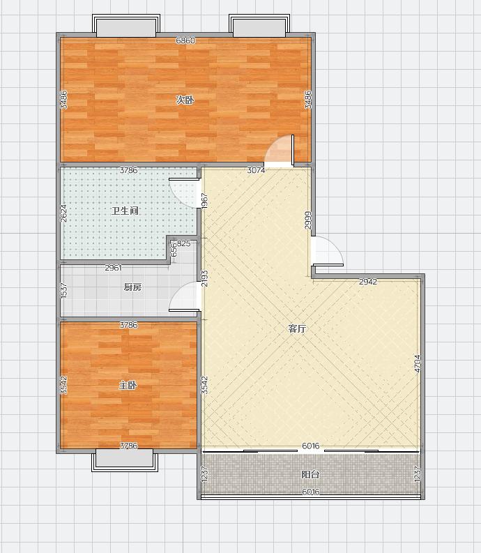 山南新区壹代城93平米2室毛坯好房出售
