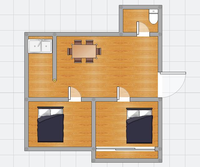 洞泉小区中装房两室出售