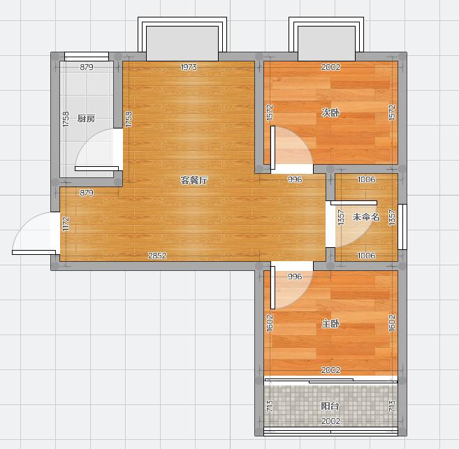 永安国际城93.55平米2室毛坯出售