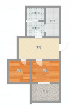邮电大院62平米两室急售_10