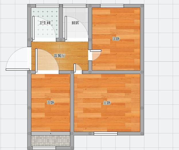 此房位于园新大院66.56平米出售_10