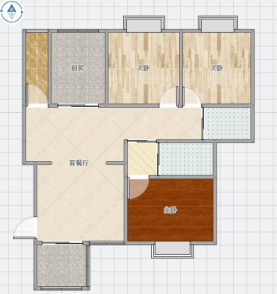 金地国际城B城退台洋房2楼123平米3室2厅精装修急售
