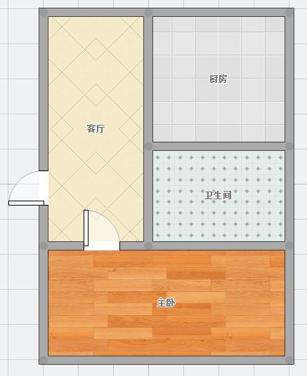 基建楼53.35平米一居室精装出售