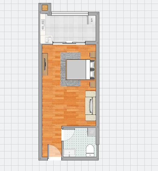 金地月伴湾精装修一居室出售