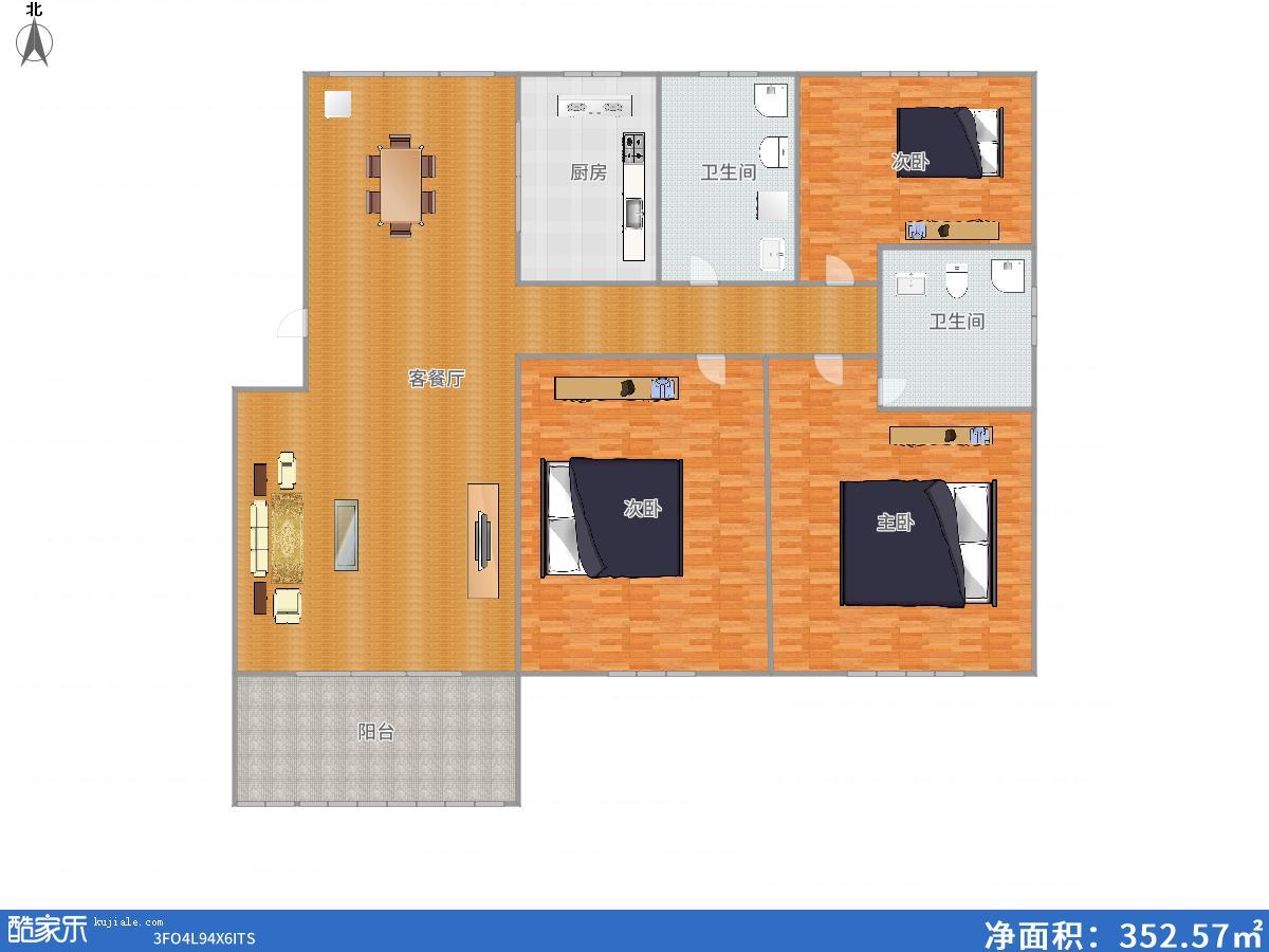 半山家园多层4楼126.7平3房毛坯户型好