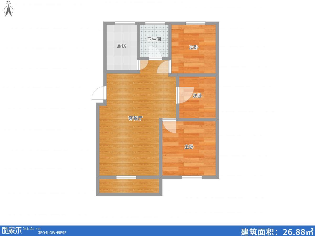南山村d区三室两厅精装修出售