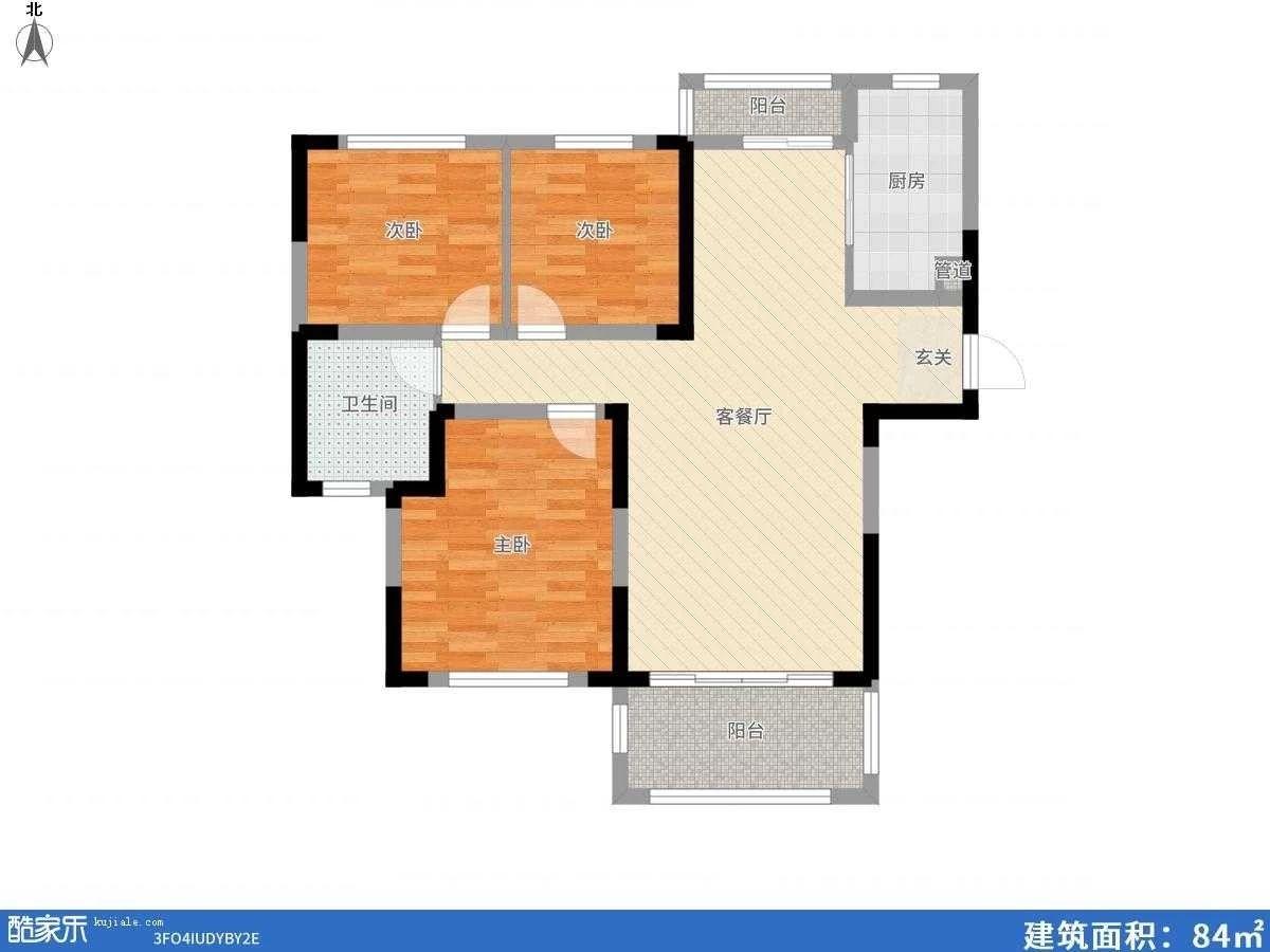 广弘城三室两厅104.88平米精装出售