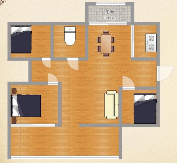银鹭组团三3室2厅,房型好