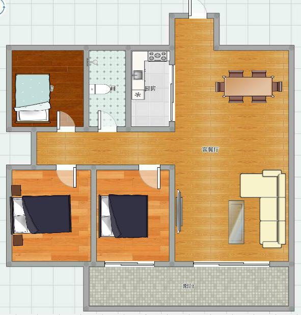 3室2厅精装出售