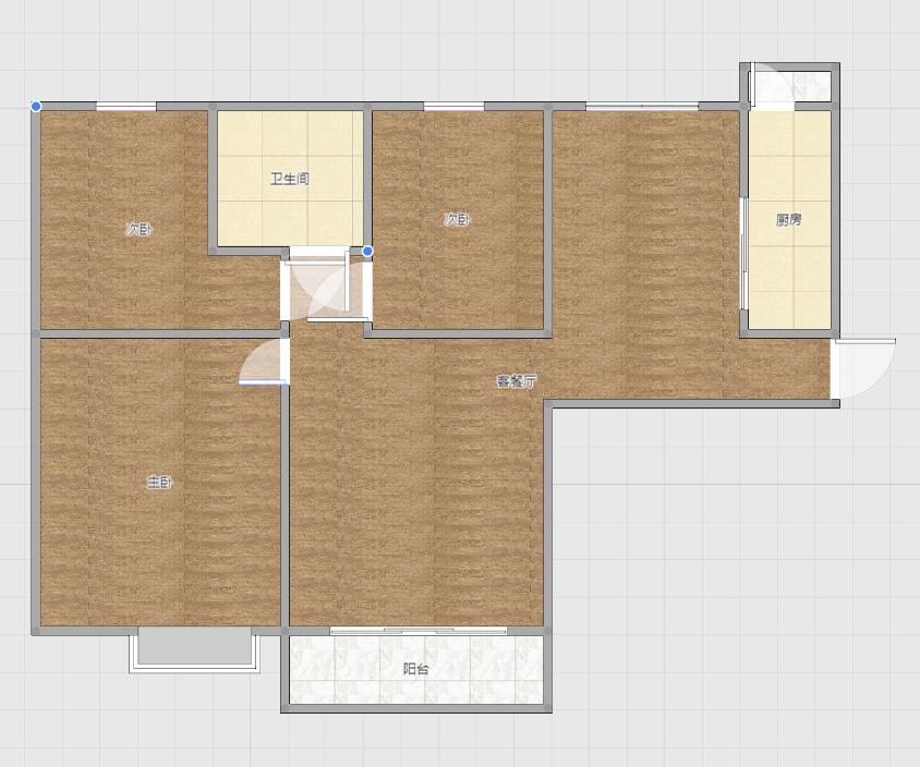 恒大绿洲3室2厅精装修
