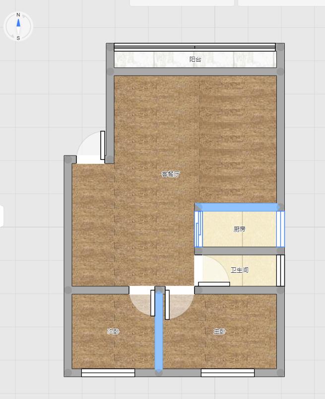 淮河嘉苑78.62平米2室精装出售