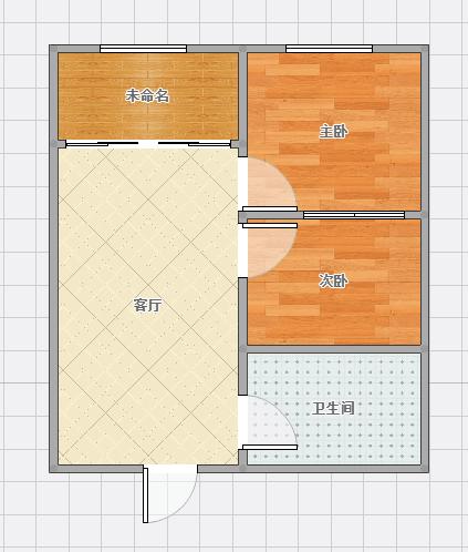 龙湖中心位于学院南路普装2室公寓