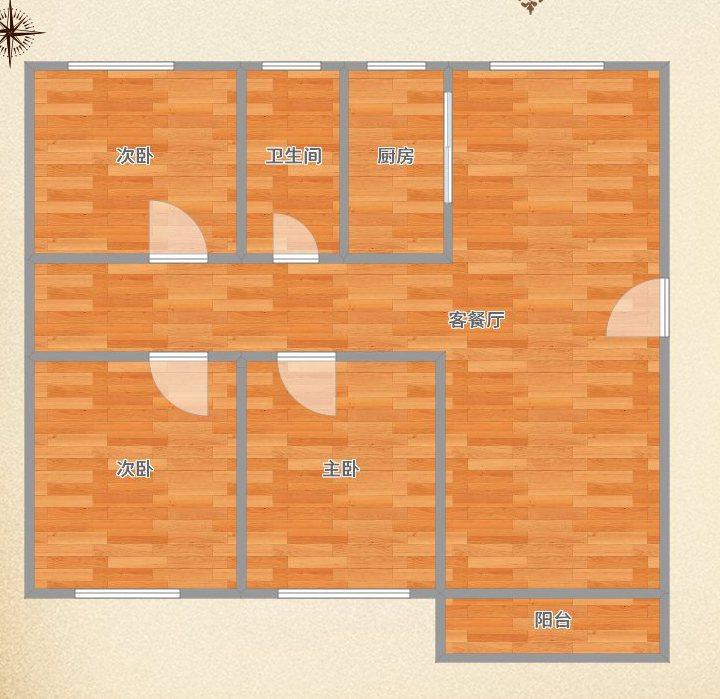 翰林华府一楼三室2厅116.5平米出售_11