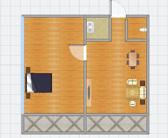 金地国际城A区精装1室1厅急售均价超低,双阳台房子保持的很好_15