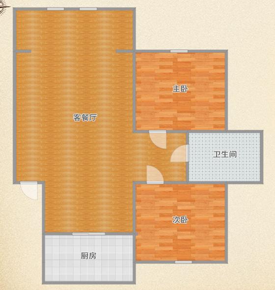 山水居精装两房出售_11