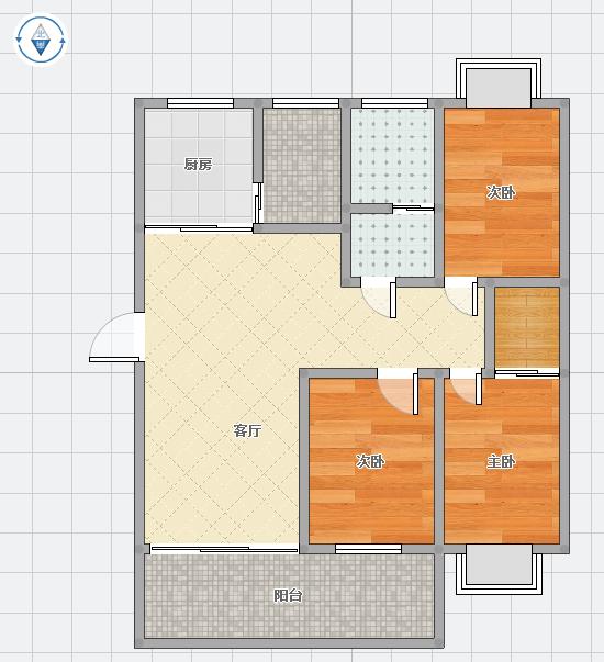 领城精装修3室2厅一楼_12