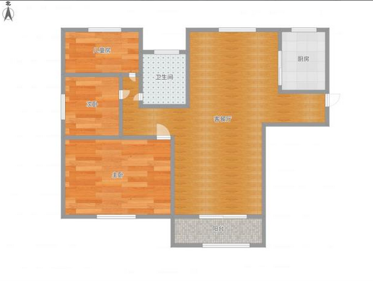 金地国际城A区3室对外出售