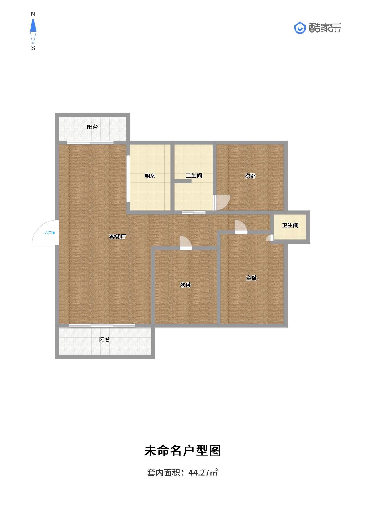 山南南山院3室2厅117平毛坯中间层急售