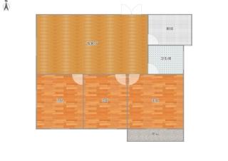 金地环球港毛坯3室2厅房出售学区房_9