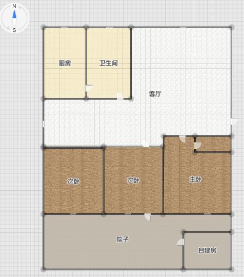 龙泉北村新上一楼三室二厅有个超大的院子