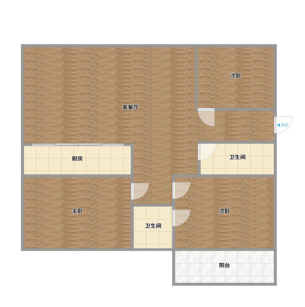 精装三室两厅中间层_16