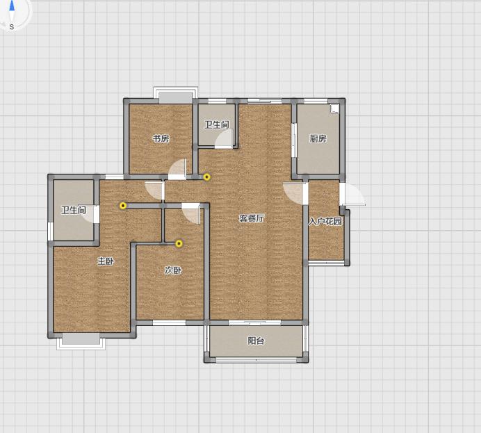 一品山南毛坯四室两厅电梯入户高档住宅实际面积140平米