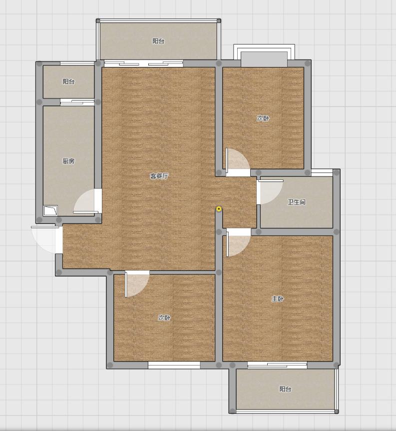 东方丽景 3室2厅 精装